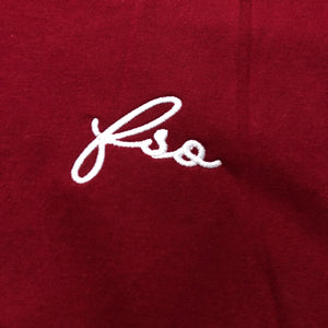 561 T-shirt FSO Script Embroidery Cardinal/Silver
