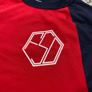 561 T-shirt 3/4 Baseball Line Monogram Red/Blue/White