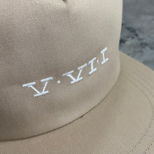 561 Hat Unstructured Snapback Simple Roman Khaki/White