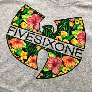 561 T-shirt Tropical W Heather Grey