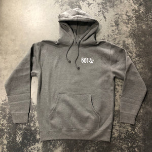 561 Sweatshirt Hoodie Fishing Club Heather Grey/White