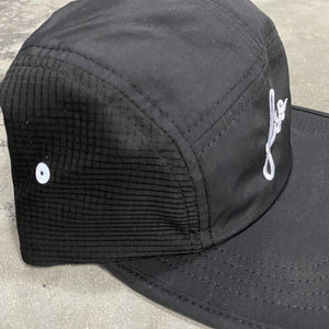 561 Hat 5 Panel Nylon FSO Script Black/White