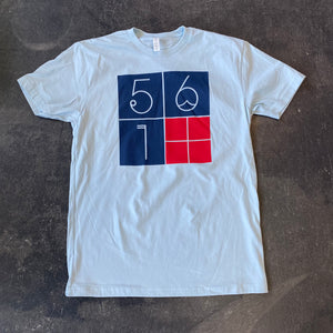 561 T-shirt 4 Square Light Blue