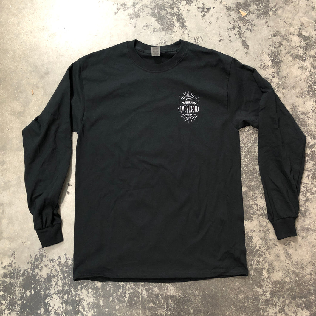 561 Longsleeve T-shirt Badge Logo Black/White