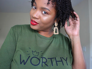 Olive WORTHY T-Shirt (Large print)