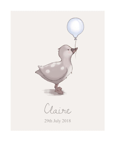 Little Duck - Personalised Print