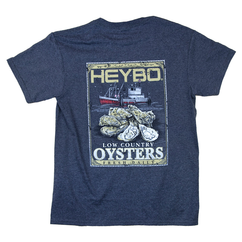 Oyster Label : Charcoal Heather