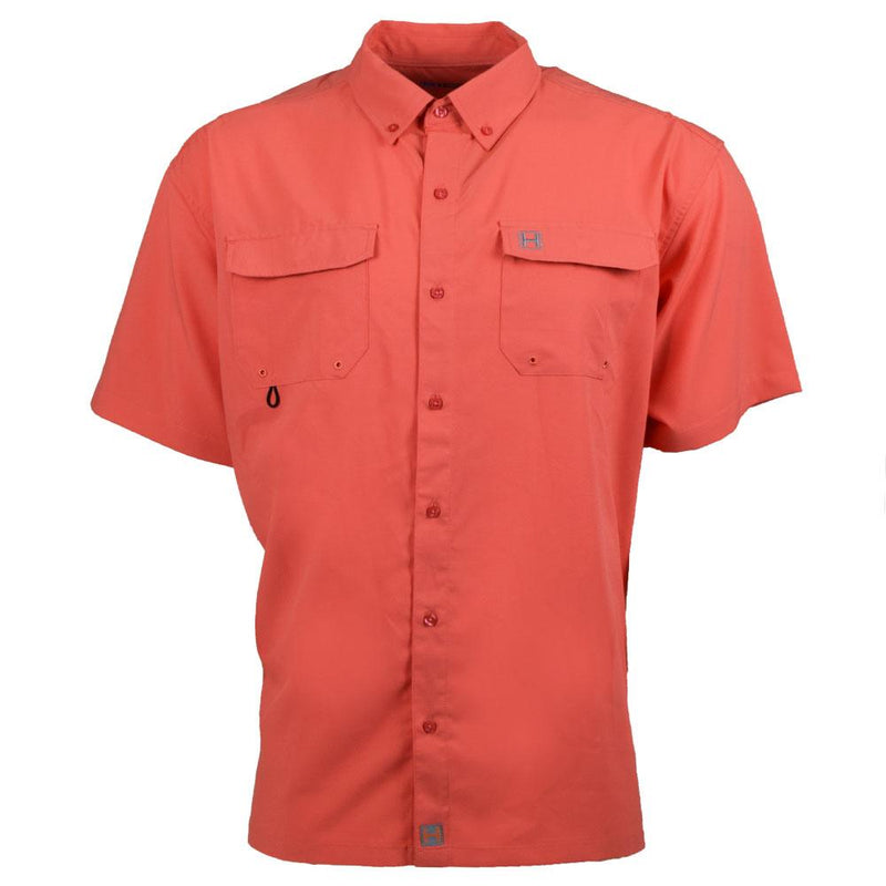 The Boca Grande Short Sleeve : Coral