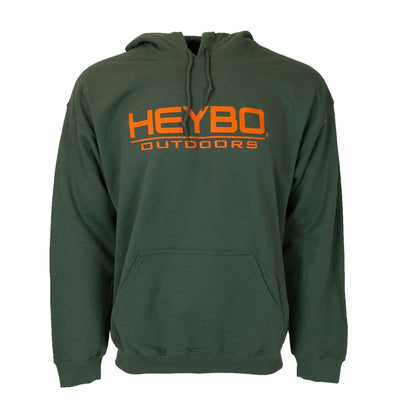 Pro Hoody : Hunter Green/ Orange Font