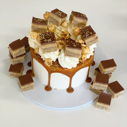Mini Caramel Slice Cake - Father's Day