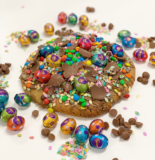 Giant Choc Chunk Easter Cookie