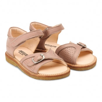 Angulus Sandal with Buckle Velcro Closure - Make up (Rose)