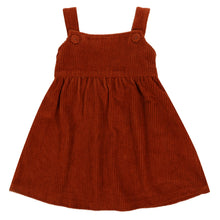 Load image into Gallery viewer, Little Cotton Clothes Tabitha Pinafore Dress - Rust Chunky Cord 3-4Y Last One