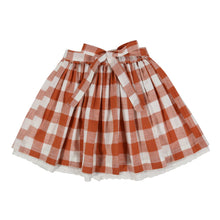 Load image into Gallery viewer, Little Cotton Clothes Salcombe Skirt - Rust Gingham 3-4Y