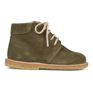 Angulus Boot with Laces and Hole Patterns - Olive Size 20 Last Pair