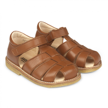 Load image into Gallery viewer, Angulus Sandal with Adjustable Velcro - Cognac Size 20, 21, 23