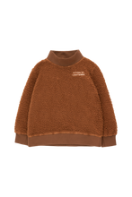 Load image into Gallery viewer, TINY COTTONS CITIZEN OF LUCKYWOOD SWEATSHIRT Dark Brown/Light Cream 6Y