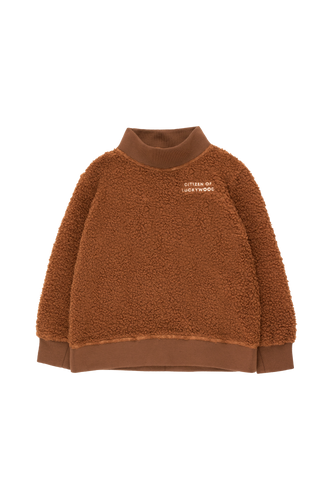 TINY COTTONS CITIZEN OF LUCKYWOOD SWEATSHIRT Dark Brown/Light Cream 6Y