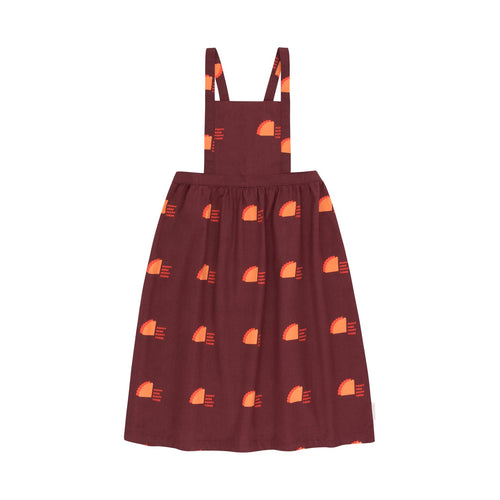 TINY COTTONS POPPY SIGN BRACES LONG SKIRT Aubergine/Coral 2Y,4Y,6Y