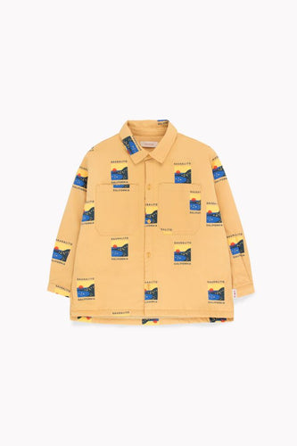 TINY COTTONS SAUSALITO SHIRT - Sand/True Navy 2Y,4Y,6Y
