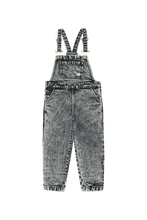 Load image into Gallery viewer, TINY COTTONS DENIM OVERALL - Snowy Black
