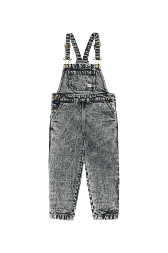 TINY COTTONS DENIM OVERALL - Snowy Black