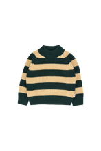 Load image into Gallery viewer, TINY COTTONS STRIPES SWEATER - Bottle green/Sand