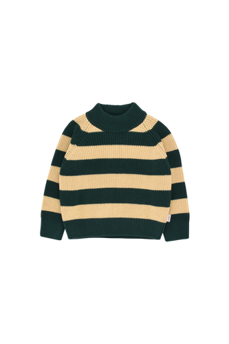 TINY COTTONS STRIPES SWEATER - Bottle green/Sand 2Y,6Y