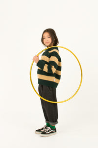 TINY COTTONS STRIPES SWEATER - Bottle green/Sand