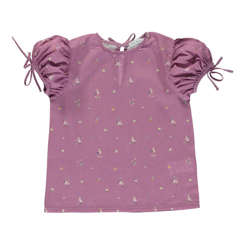 Bebe Organic Adele Blouse - Purple Flower - 3Y,4Y
