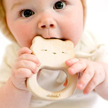Load image into Gallery viewer, Ellie Fun Day All-Natural Maple Wood Bear Teether