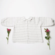 Load image into Gallery viewer, Nellie Quats Duck, Duck, Goose Blouse - Linen White Check