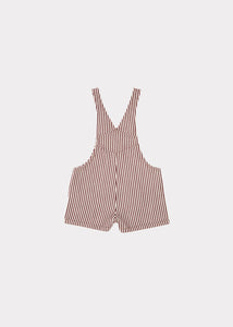 Caramel Seal Baby Dungaree - Brown Stripe - 2Y