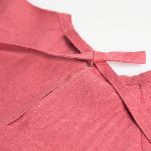Nellie Quats Hopscotch Dress - Linen Raspberry 18-24M,3-4Y,5-6Y