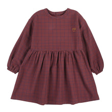 Load image into Gallery viewer, Jelly Mallow Grid Checked Dress - Burgundy - 2-3Y, 4-5Y