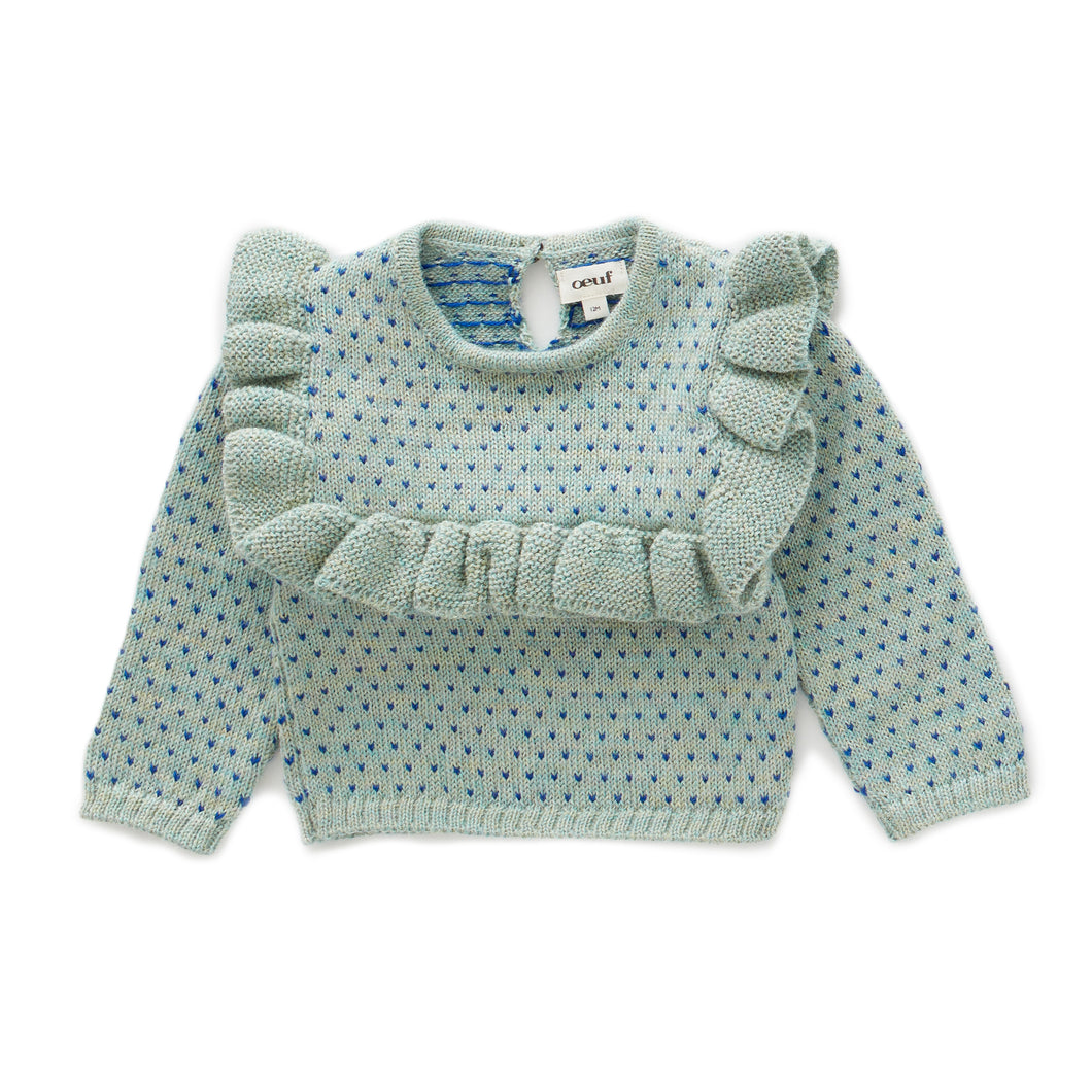 OEUF NYC Frou Frou Top - Ocean/Electric blue 2Y,4Y