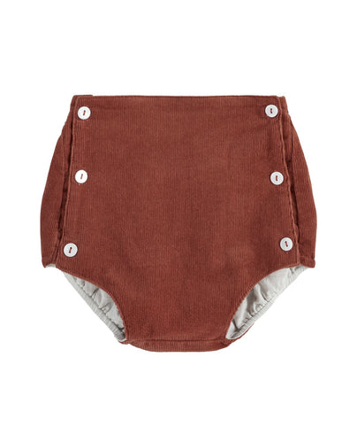Little Cotton Clothes Folkstone Button Front Bloomers - Clay Corduroy - 18-24M Last One