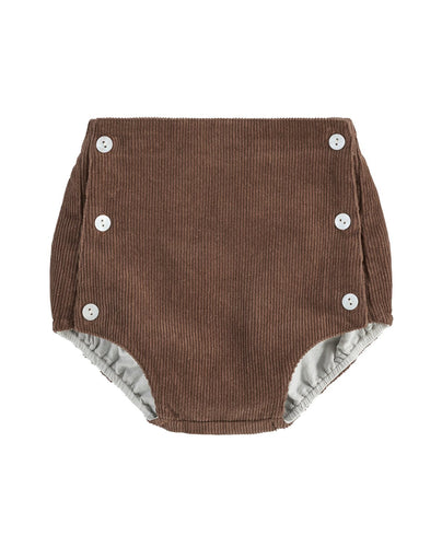 Little Cotton Clothes Folkstone Button Front Bloomers - Nut Corduroy - 18-24M, 2-3Y