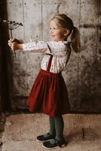 Load image into Gallery viewer, Little Cotton Clothes Edith Collared Blouse - Petal Floral in Rust - 3-4Y