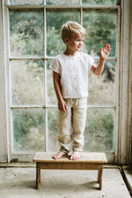 Load image into Gallery viewer, Little Cotton Clothes Brighton Tee - White Cotton Linen 18-24M,2-3Y,3-4Y