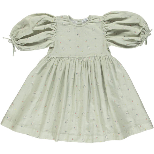Bebe Organic Nora Dress - Sage Flower - 3Y, 4Y