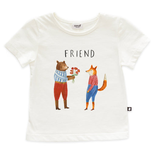 Oeuf Tee Shirt - Friend - 12-18M, 18-24M, 2-3Y, 4-5Y