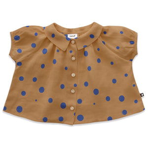 Oeuf Short Sleeve Blouse - Doe - 18-24M, 2-3Y, 4-5Y