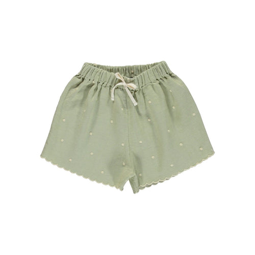 Bebe Organic Olivia Shorts - Natural Green - 3Y, 4Y