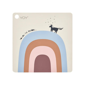 OYOY PLACEMAT FOLLOW THE RAINBOW - BEIGE