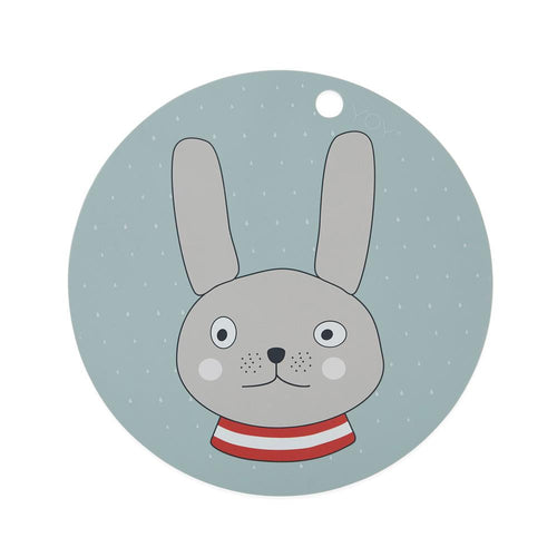 OYOY PLACEMAT RABBIT - MINTY