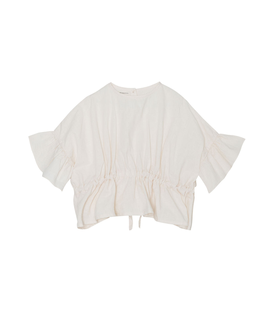 Yellow Pelota Hala Blouse - Natural Linen