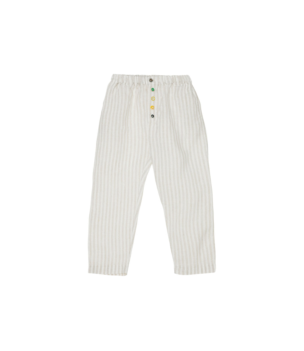 Yellow Pelota Laka Pants - Shinny Stripes 3Y, 4Y, 6Y