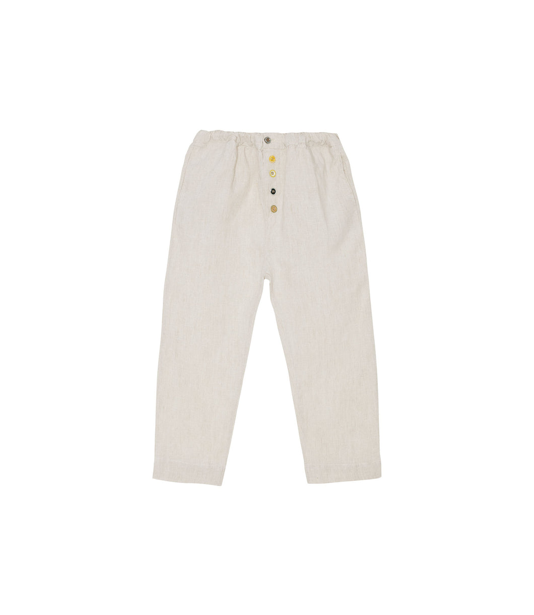 Yellow Pelota Laka Pants - Natural 3Y, 4Y, 6y