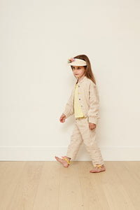 Yellow Pelota Laka Jacket - Natural Linen 3Y, 4Y, 5Y